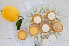 Little meringue lemon pies Royalty Free Stock Photo