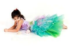 Little mermaid. Little girl dressed as mermaid for halloween stock photos