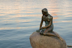 Little Mermaid. Statue at Copenhaguen Stock Photos