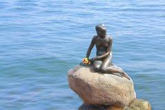 Little Mermaid. The Little Mermaid sculpture Copenhagen, Denmark tourist attraction royalty free stock image