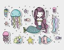 Free Little Mermaid Art Cartoon Royalty Free Stock Photos - 109818838