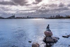 The Little Mermaid. Is a bronze statue by Edvard Eriksen in Copenhagen, Denmark stock photography