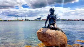 Little Mermaid in Copenhagen Stock Images