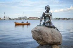 Little Mermaid in Copenhagen Royalty Free Stock Photo