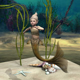 Little Mermaid Royalty Free Stock Photo