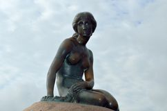 The Little Mermaid langelinie  cobenhagen denmark  Royalty Free Stock Photos
