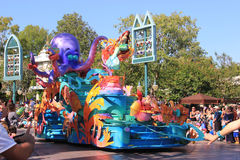 Little Mermaid at Disneyland. Anaheim, California, USA - May 30, 2014: Little Mermaid in Disney Parade at Disneyland, California Stock Photos