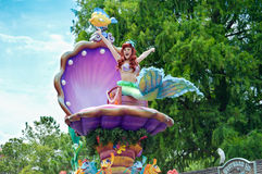 Little Mermaid from the Festival of Fantasy Parade Stock Photos
