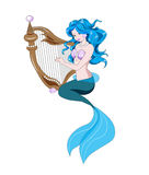 Little Mermaid and harp Stock Photography