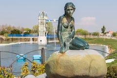 The Little Mermaid and London Bridge Stock Photos