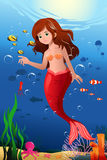 Little mermaid in the ocean Royalty Free Stock Photography
