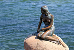 The Little Mermaid. Is one of Copenhagen's top tourist attractions in the summer months stock photo