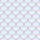 Little mermaid seamless pattern Stock Image