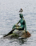The little mermaid at Stanley Park, Vancouver, BC. Stock Photos