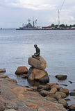 Little Mermaid statue Stock Photography