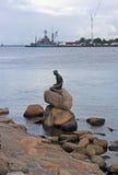 Little Mermaid statue. In Copenhagen stock photography
