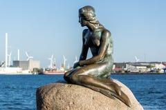 Little mermaid. Statue in the Copenhagen city, Europe stock image