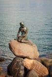 Little Mermaid statue in Copenhagen, Denmark Stock Image