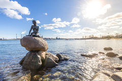 Little mermaid statue Copenhagen stock photo