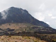 Little Meru and Saddle Hut. Seen from Mount Meru, Arusha National Park, Tanzania stock photography