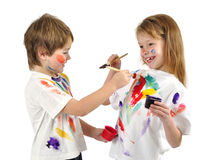 Little messy artists Stock Photography