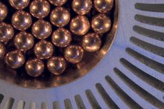 Little  Metallic Magnetic balls Royalty Free Stock Images
