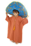 Little Mexican. Little Boy with a Mexican Mariachi hat on white Stock Photo