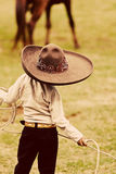 Little Mexican Cowboy stock image