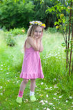 Little midsummer girl Stock Images