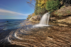 Little Miners Falls , Michigan's Lake Superior Royalty Free Stock Image