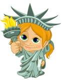 Little miss liberty. Illustration of a little girl dressed as miss liberty stock illustration