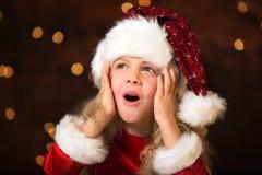 Little miss santa Royalty Free Stock Image