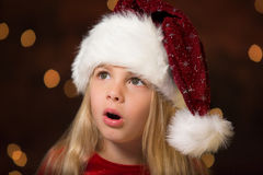 Little miss santa Stock Photography
