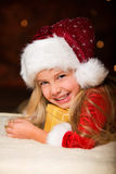 Little miss santa Stock Image