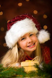 Little miss santa Stock Images