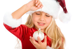 Little miss santa Royalty Free Stock Photography