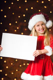 Little miss santa Royalty Free Stock Image
