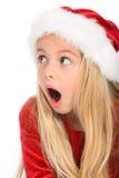 Little miss santa amazed Royalty Free Stock Images