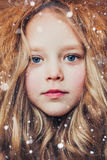 Little Miss Winter Royalty Free Stock Photo