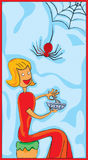 little missa muffet royaltyfri illustrationer
