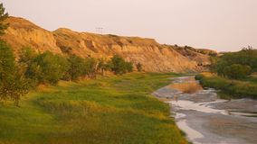 Little Missouri River Montana North America USA arkivfilmer