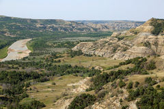 Little Missouri River Valley Royalty Free Stock Images
