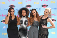 Little Mix. LOS ANGELES, CA - AUGUST 11, 2013: Little Mix - Perrie Edwards, Jesy Nelson, Leigh-Anne Pinnock & Jade Thirlwall - at the 2013 Teen Choice Awards at royalty free stock images