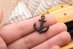 Little model anchor for decorative purposes Stock Photo