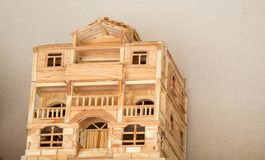 Little model of Example of Turkish Traditional architecture stock image