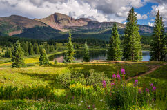 Little Molas Lake. Beautiful Colorado Lake at Sunset Royalty Free Stock Photo