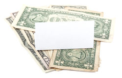 Little money saved isolated Royalty Free Stock Photo