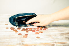 Little money for shopping Royalty Free Stock Photography