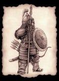 Little Mongolian spearman Royalty Free Stock Photo