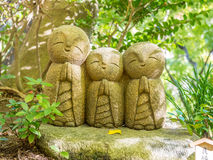 Little monk buddha statues Royalty Free Stock Photos